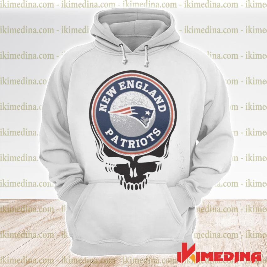 Official new england patriots football skull s premium hoodie