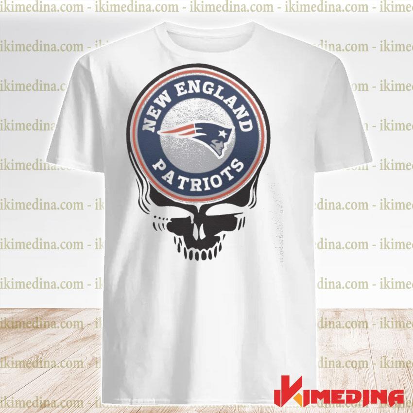 Official new england patriots football skull shirt