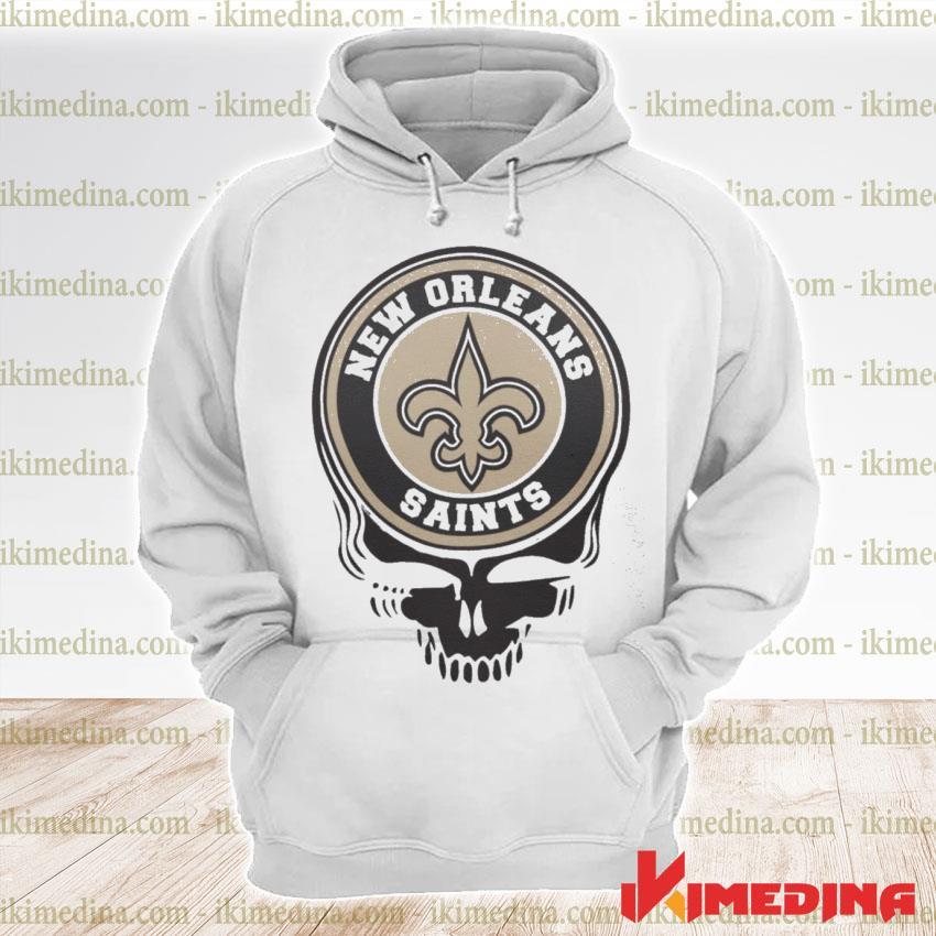 Official new orleans saints football skull s premium hoodie