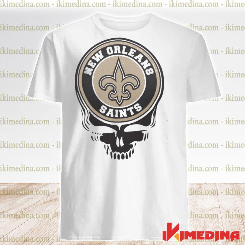 Official new orleans saints football skull shirt