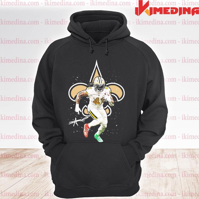 Official new orleans saints number 41 signature s premium hoodie