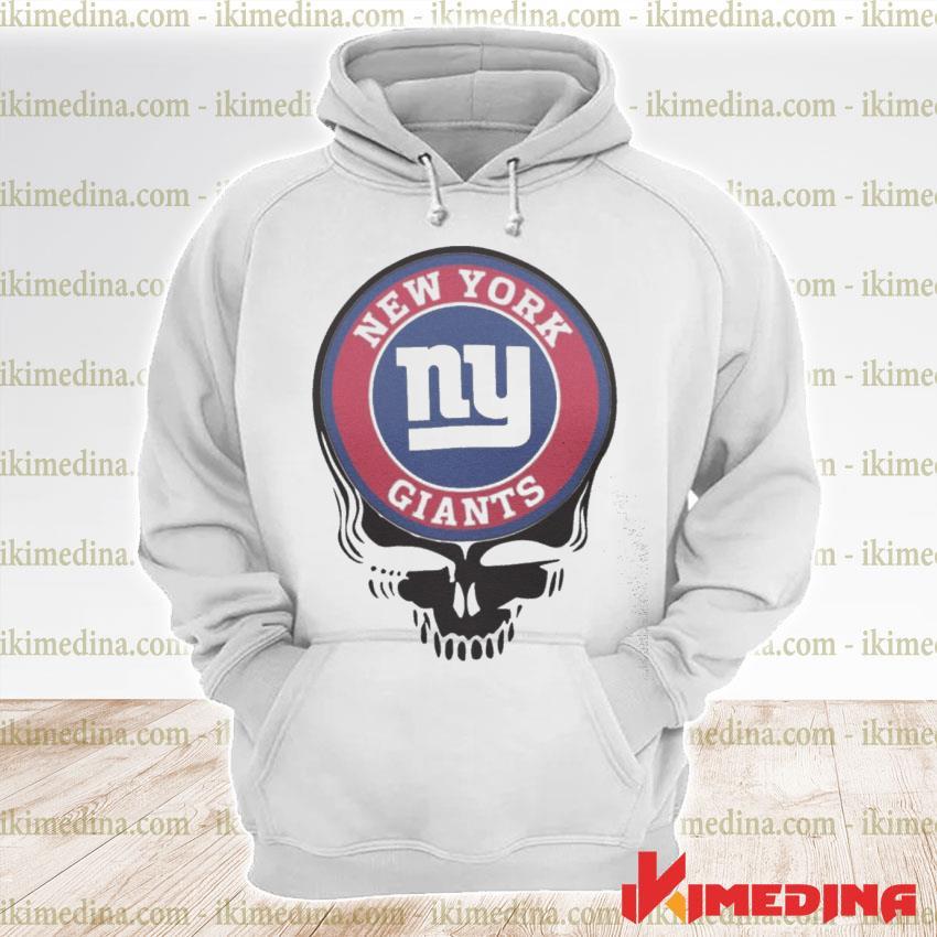 Official new york giants football skull s premium hoodie