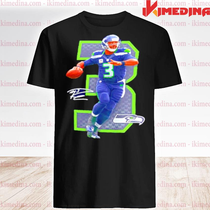 Official nfl seattle seahawks 3 russell wilson signature shirt