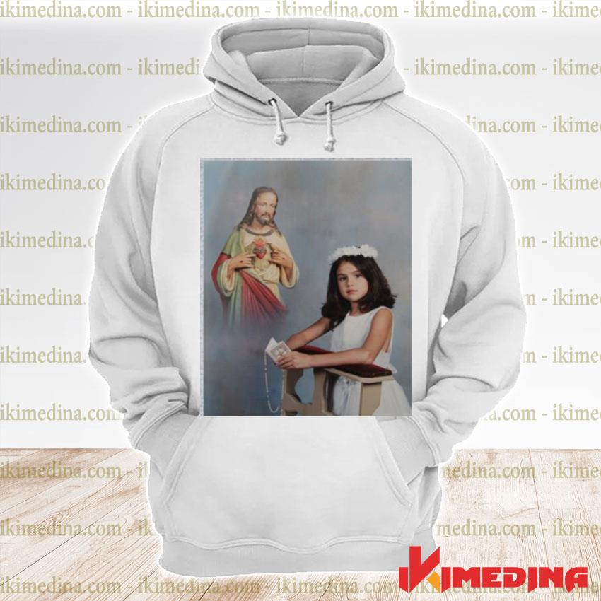 Official official selena gomez' first communion s premium hoodie