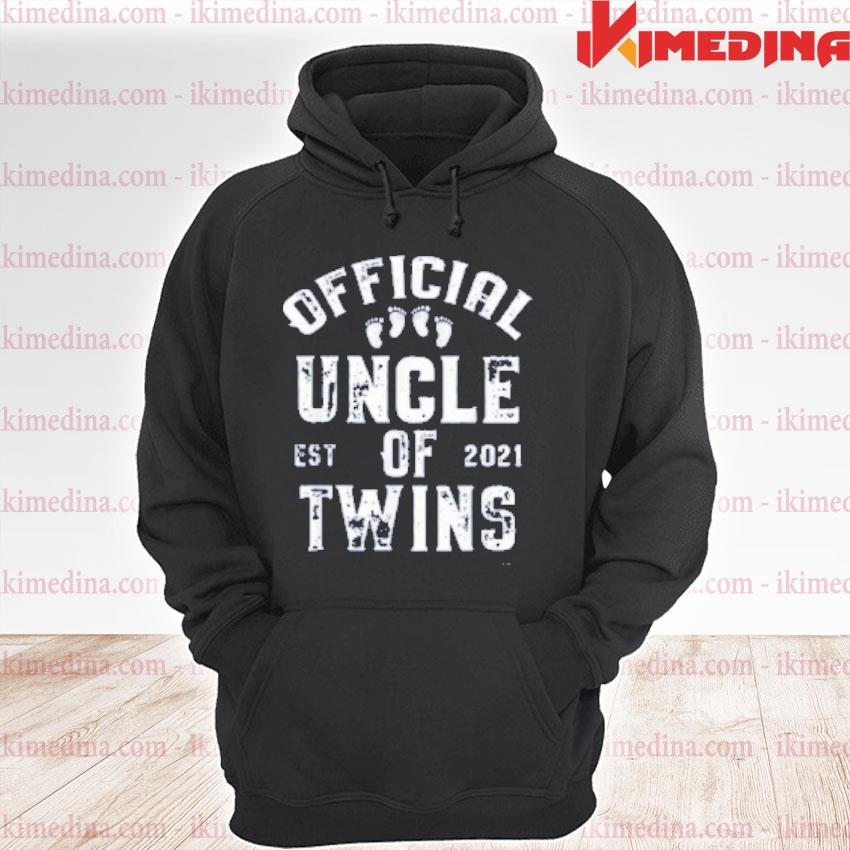 Official official uncle of twins est 2021 father's day s premium hoodie