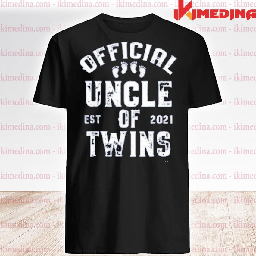 Official official uncle of twins est 2021 father's day shirt