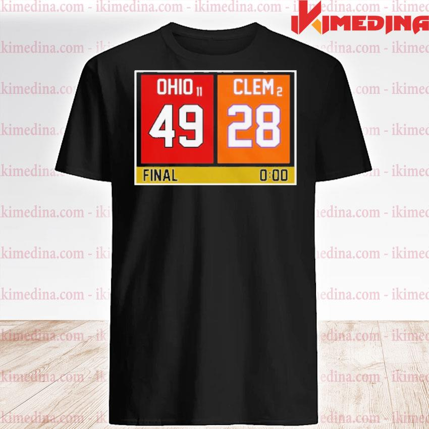 Official ohio state buckeyes vs clemson tigers 49 28 final shirt