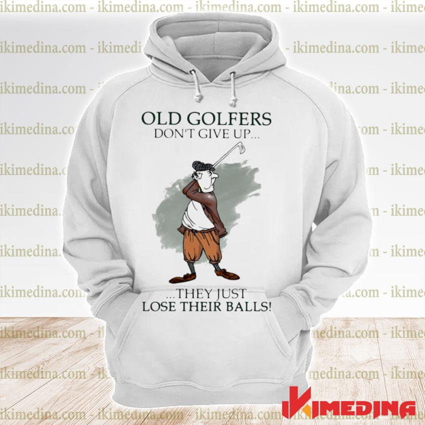 Official old golfers don't give up they just lóe their balls s premium hoodie
