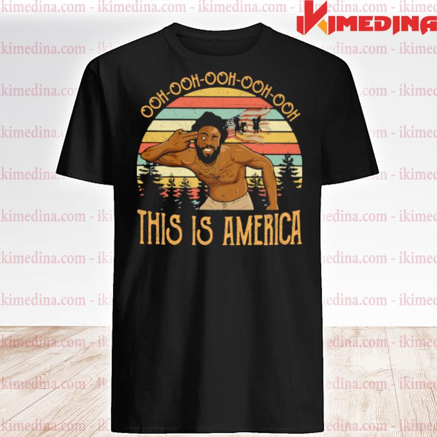 Official ooh ooh ooh this is america shot head american flag vintage shirt