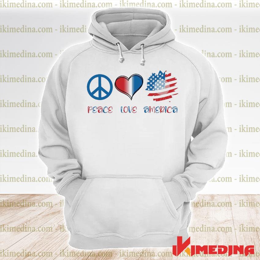 Official peace love america s premium hoodie