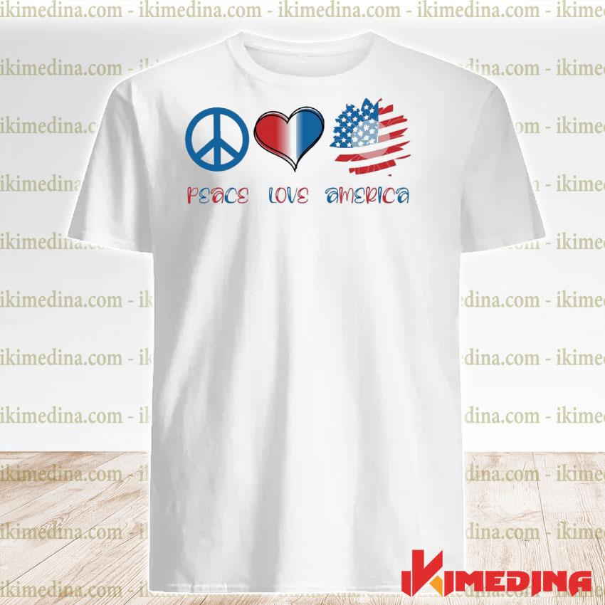 Official peace love america shirt
