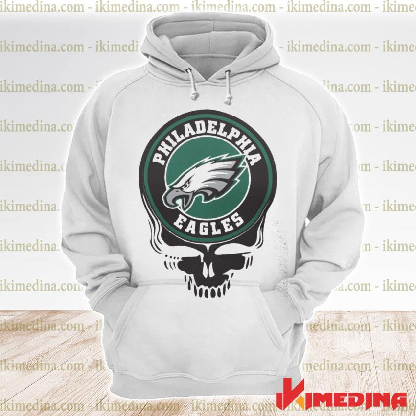 Official philadelphia eagles football skull s premium hoodie