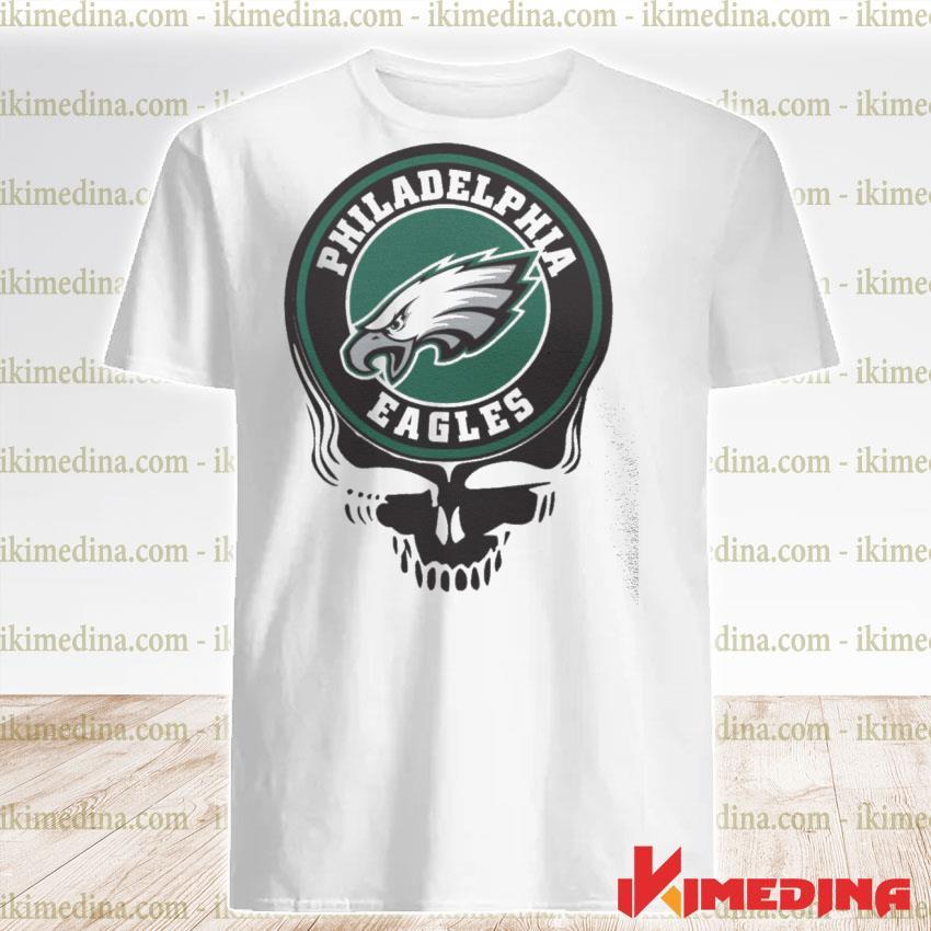 Official philadelphia eagles football skull shirt