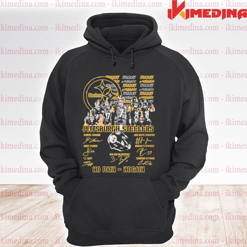 Official pittsburgh steelers no pain no gain s premium hoodie