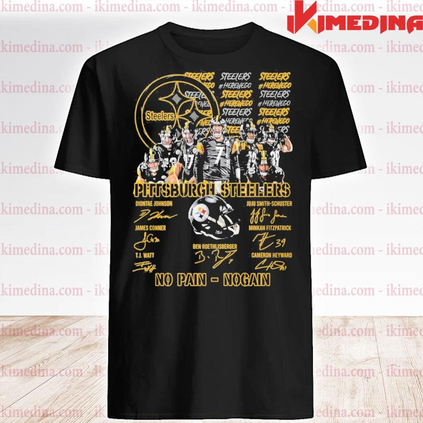 Official pittsburgh steelers no pain no gain shirt