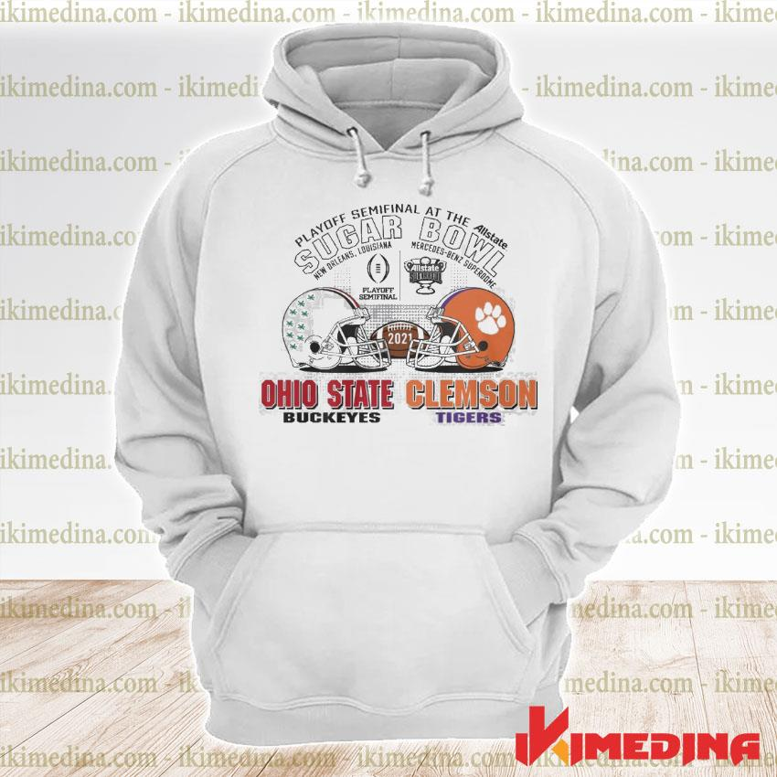 Official playoff semifinal at the allstate sugar bowl 2021 ohio state buckeyes vs clemson tigers s premium hoodie