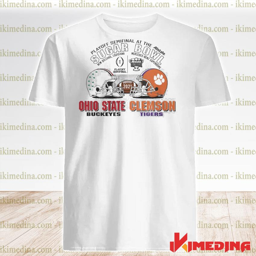 Official playoff semifinal at the allstate sugar bowl 2021 ohio state buckeyes vs clemson tigers shirt