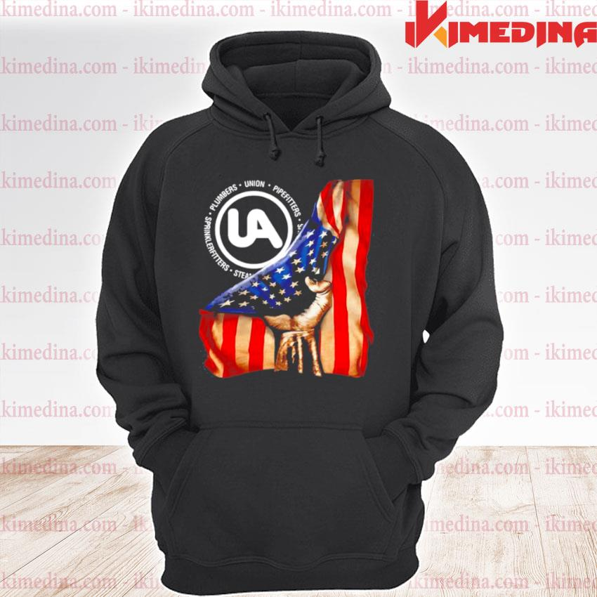 Official plumbers union pipefitters american flag s premium hoodie