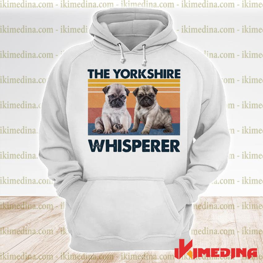Official pug the yorkshire whisperer vintage s premium hoodie