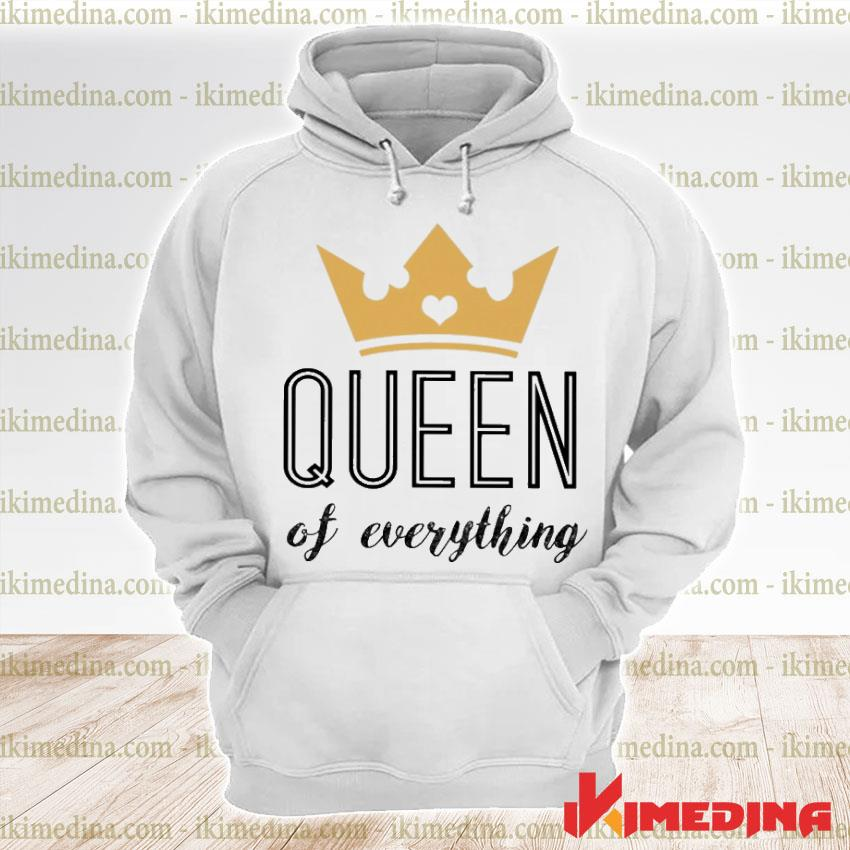 Official queen of everything s premium hoodie
