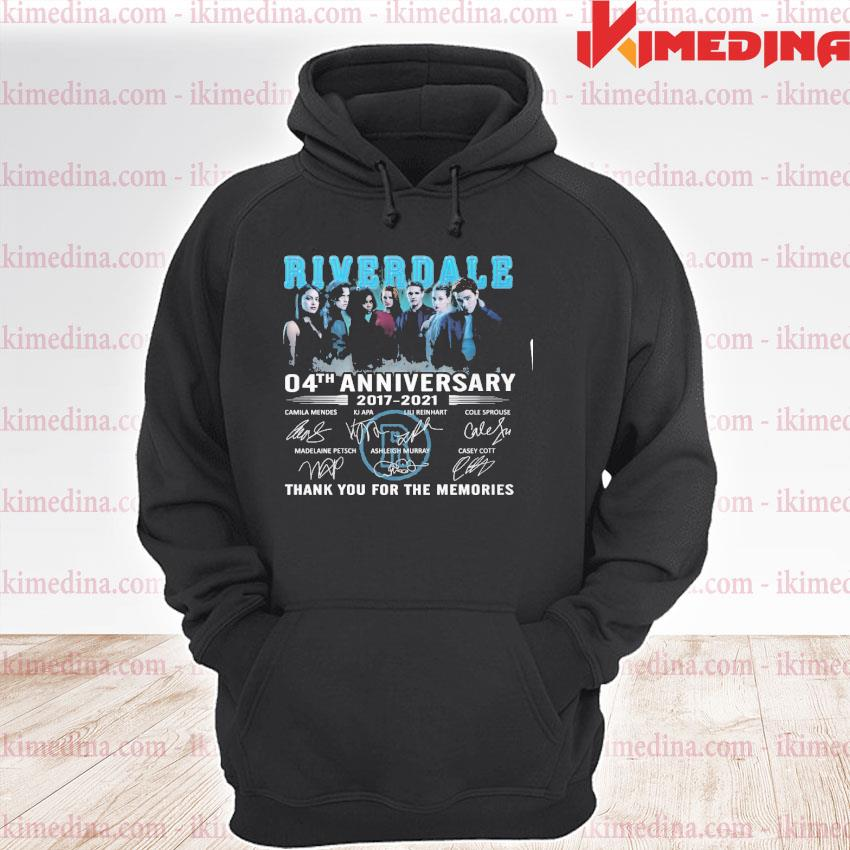 Official riverdale 04th anniversary 20217 2021 thank you for the memories s premium hoodie