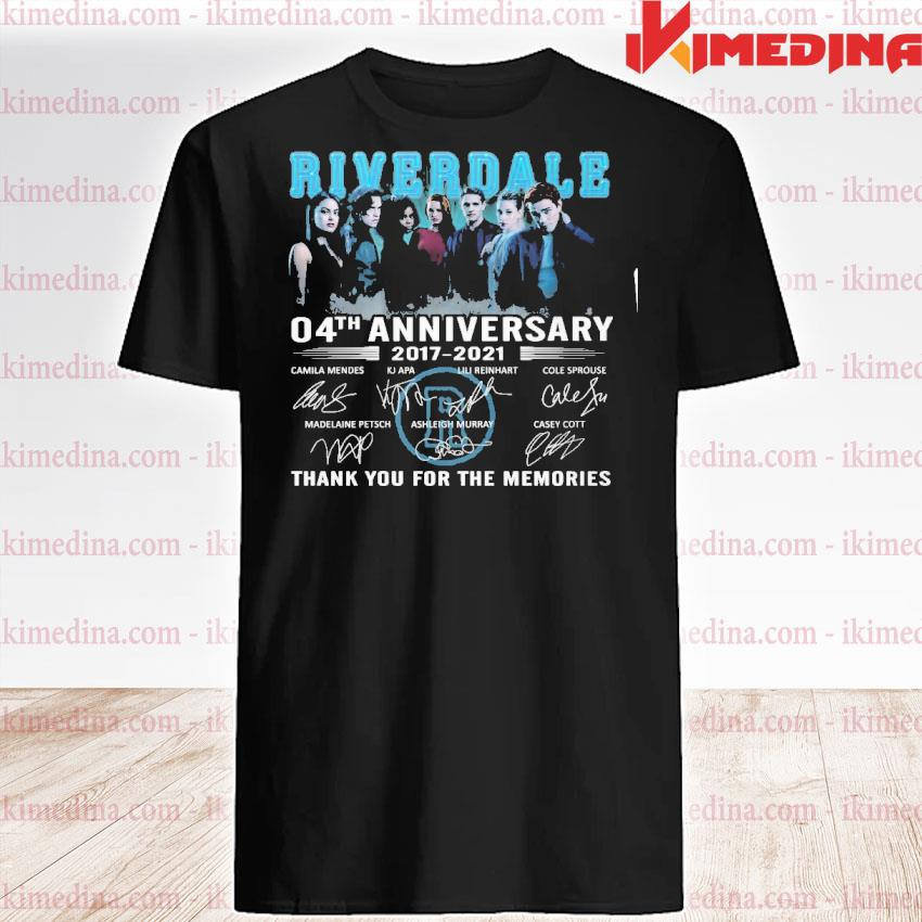 Official riverdale 04th anniversary 20217 2021 thank you for the memories shirt
