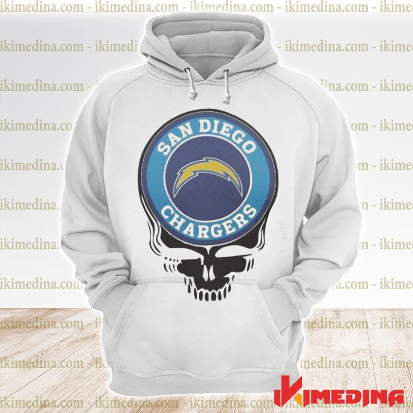 Official san diego chargers football skull s premium hoodie