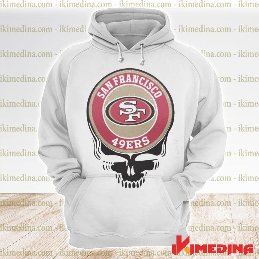Official san francisco 49ers skull s premium hoodie
