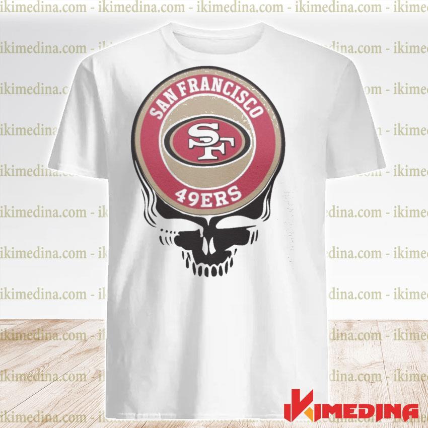 Official san francisco 49ers skull shirt