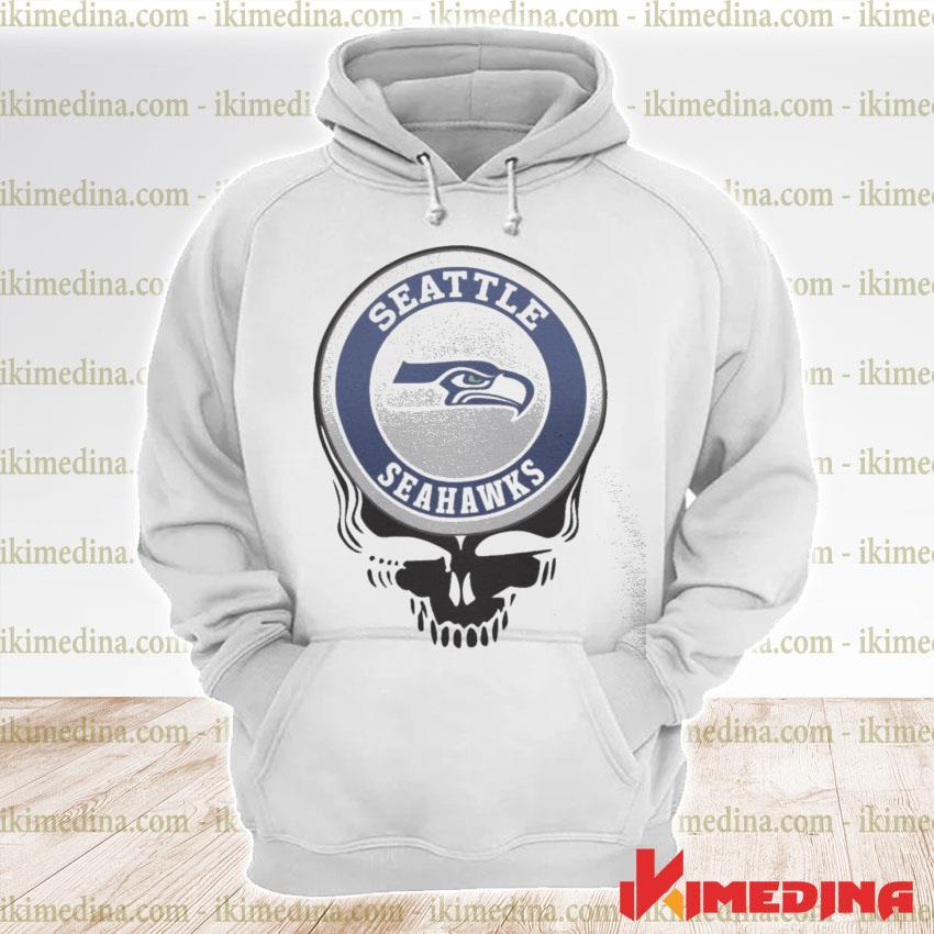 Official seattle seahawks football skull s premium hoodie