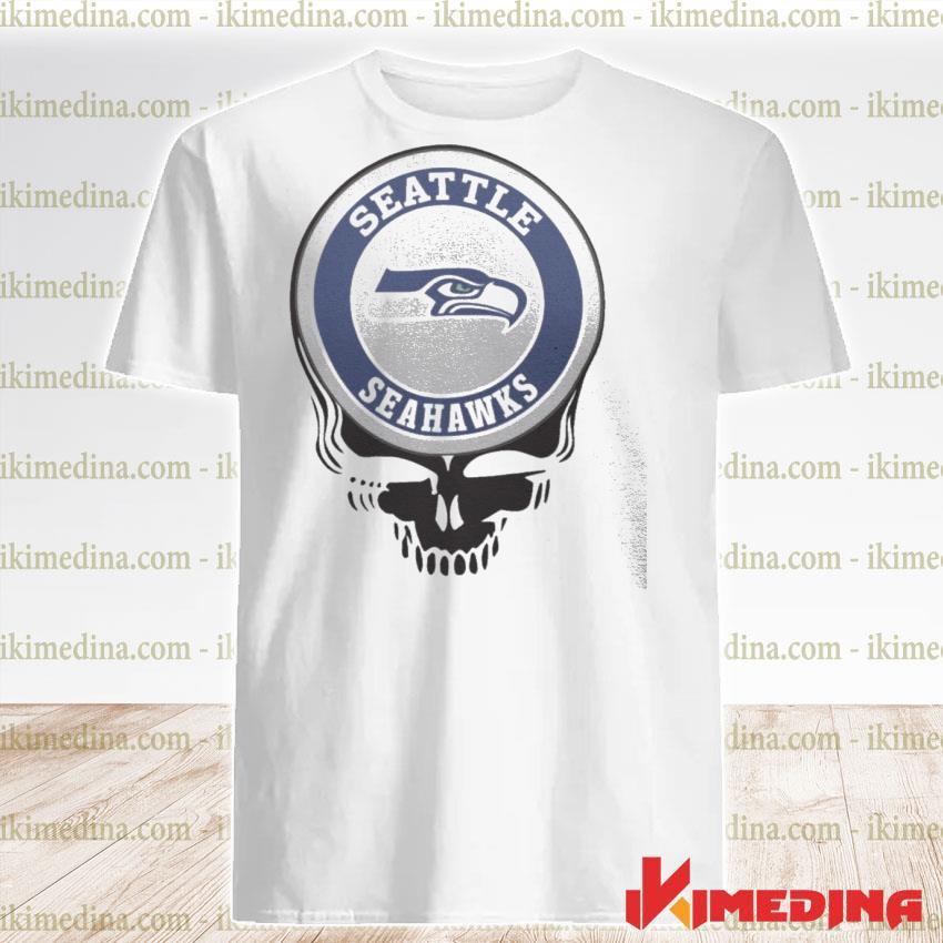 Official seattle seahawks football skull shirt