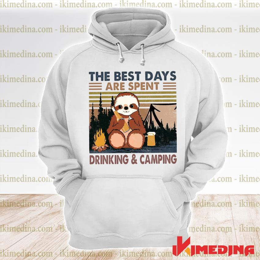 Official sloth hug beer the best days are spent drinking and camping vintage s premium hoodie