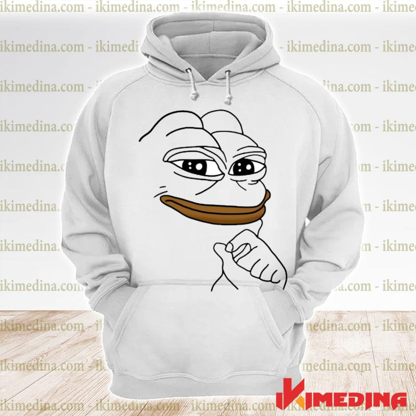 Official smug pepe the frog meme s premium hoodie