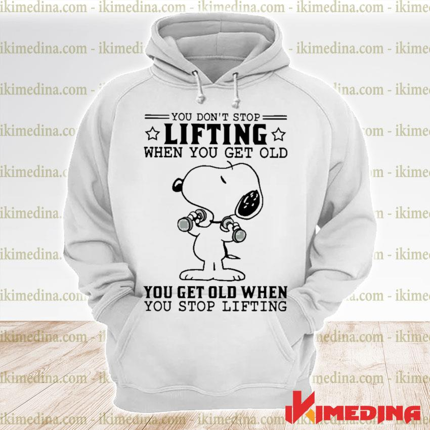 Official snoopy you don't lifting when you get old you get old when you stop lifting s premium hoodie