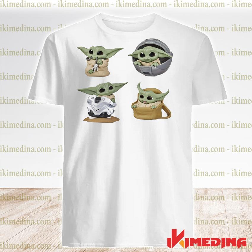Official star wars baby groot baby yoda shirt