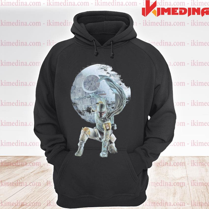 Official star wars death star the mandalorian s premium hoodie