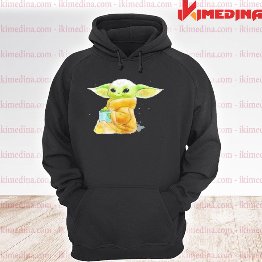 Official star wars shirt the mandalorian the child drink soup s premium hoodie