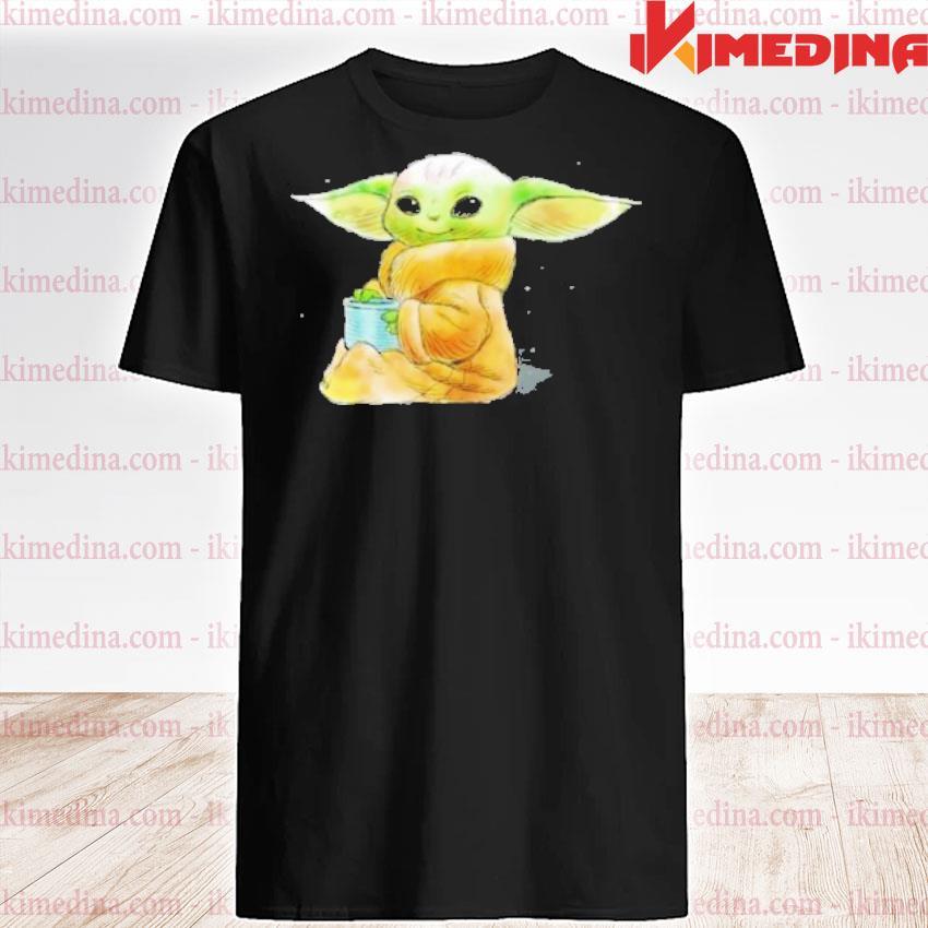 Official star wars shirt the mandalorian the child drink soup shirt