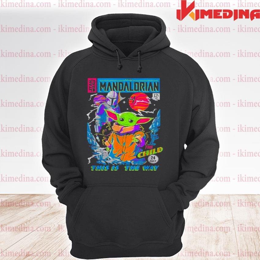 Official star wars the mandalorian the child comic book s premium hoodie