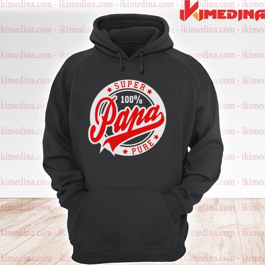 Official super papa 100 percent pure stars seal s premium hoodie