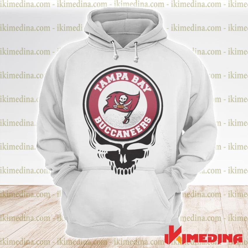 Official tampa bay buccaneers football skull s premium hoodie