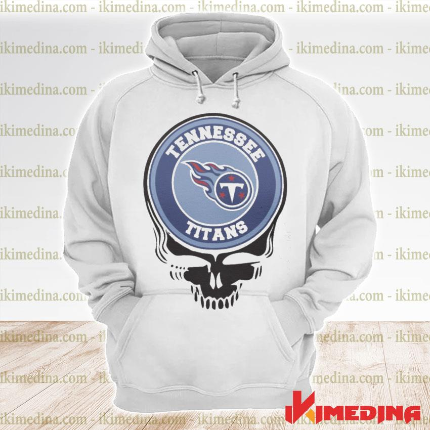 Official tennessee titans football skull s premium hoodie