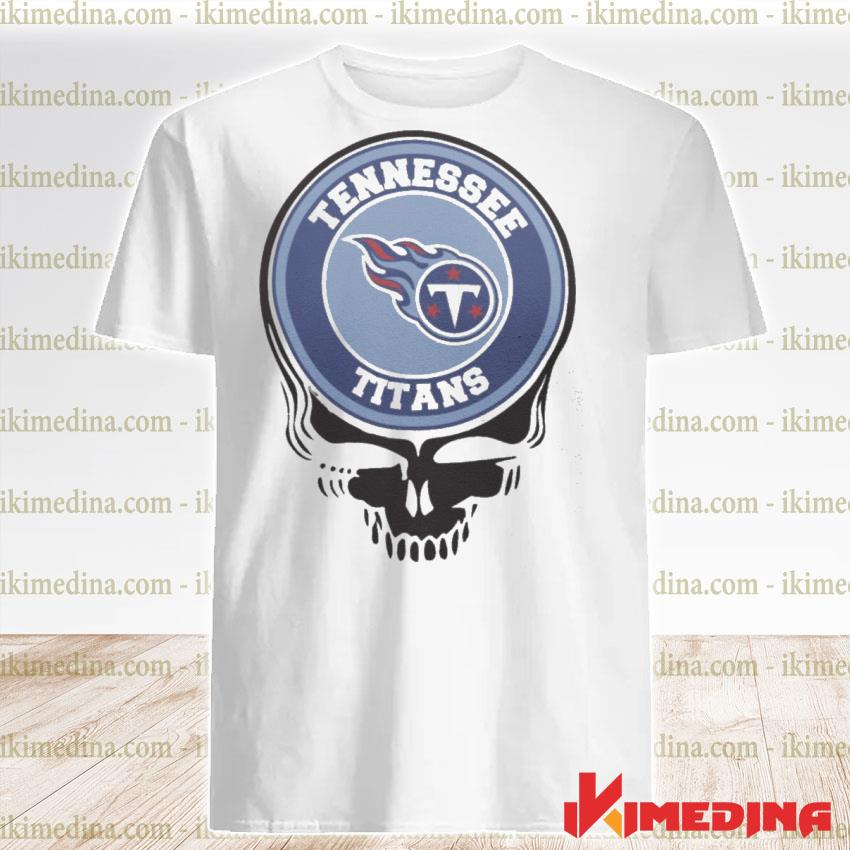 Official tennessee titans football skull shirt