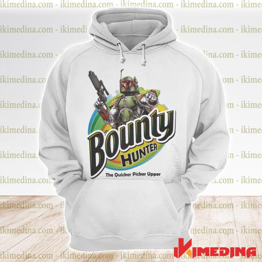 Official the mandalorian bounty hunter the quicker picker upper s premium hoodie