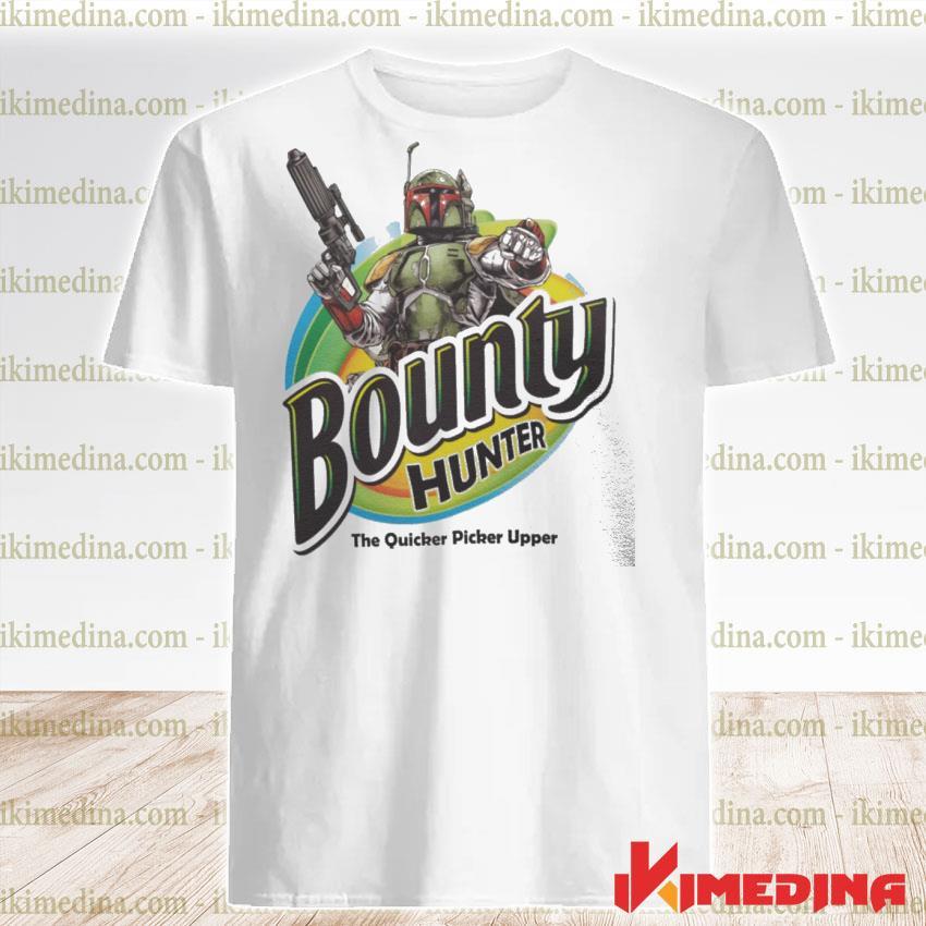 Official the mandalorian bounty hunter the quicker picker upper shirt