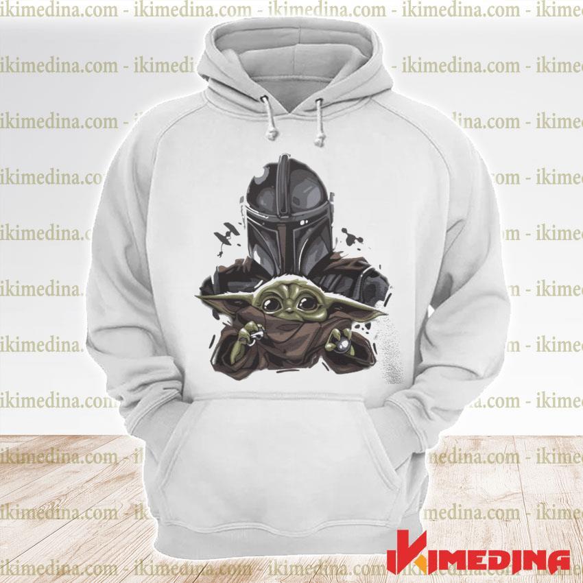 Official the mandalorian hug baby yoda s premium hoodie