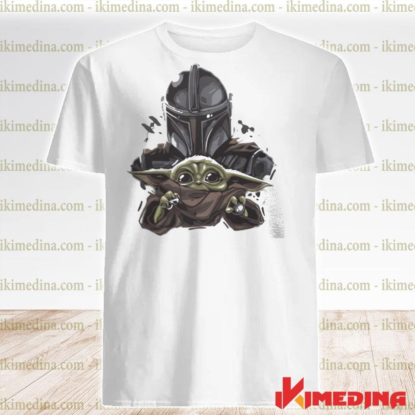 Official the mandalorian hug baby yoda shirt