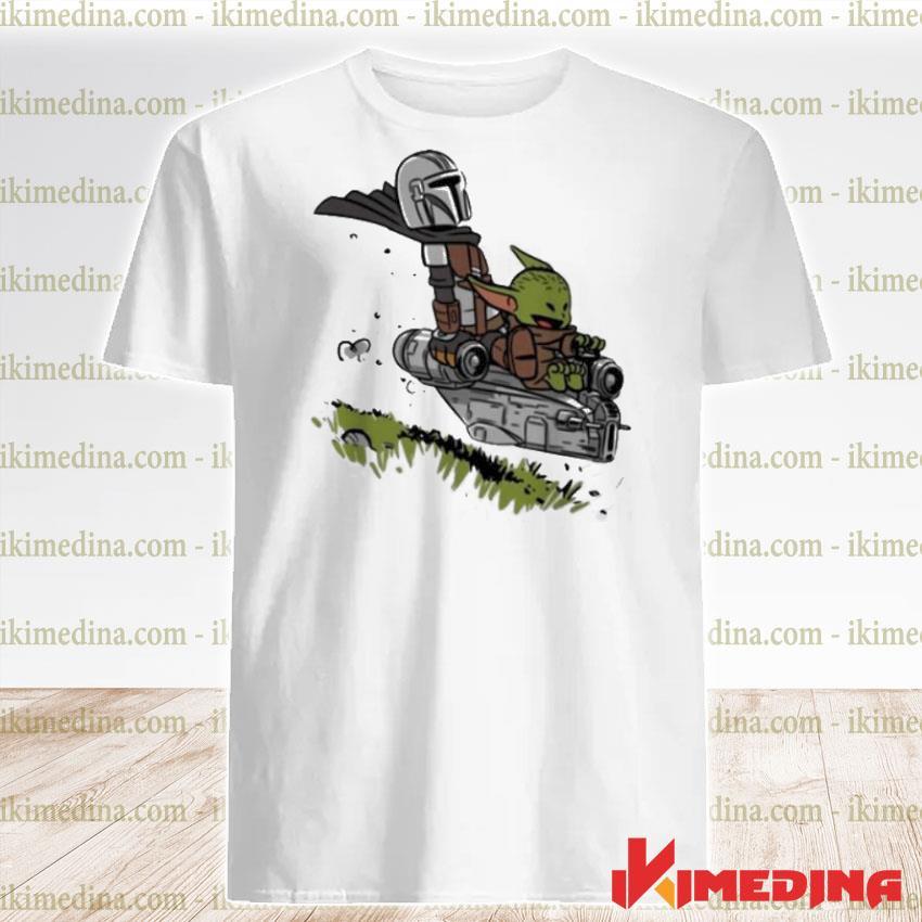 Official the mandalorian vault mando and child baby yoda shirt