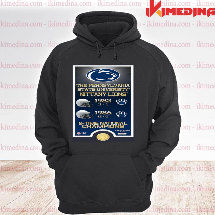 Official the pennsylvania state university nittany lions 1982 1986 2-time national champions s premium hoodie