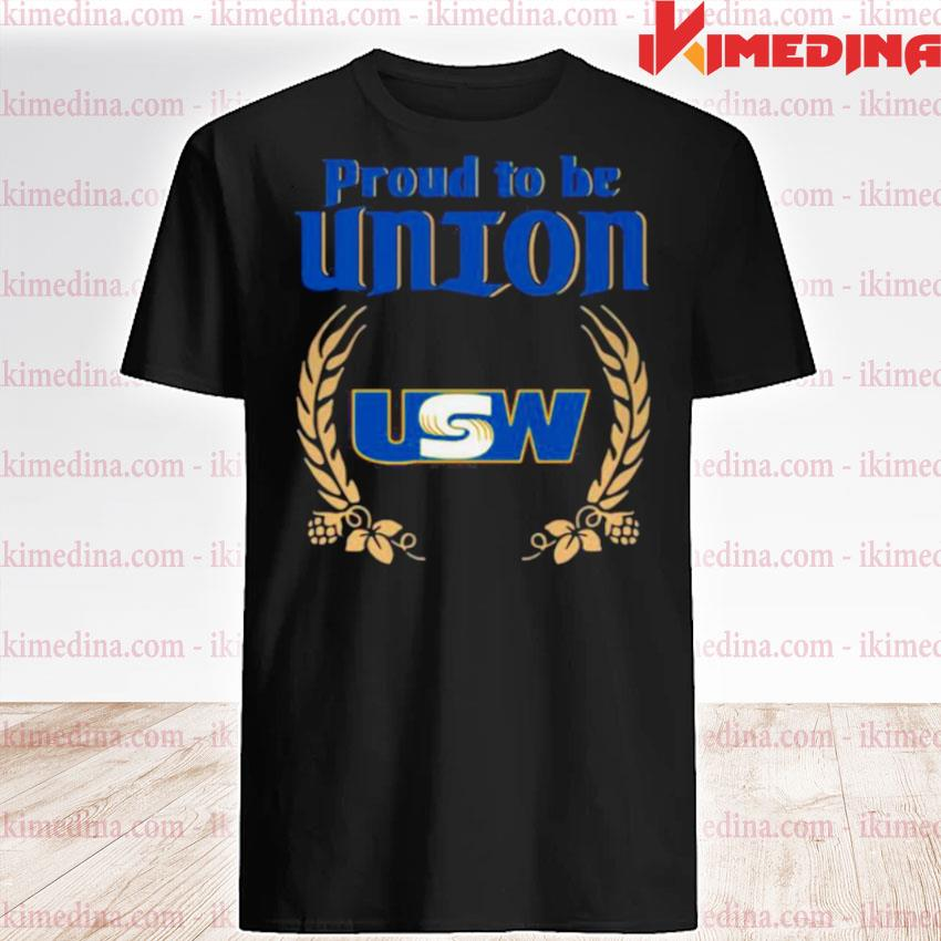 Official the proud to be union united steelworkers logo shirt
